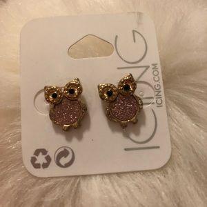 Icing Jewelry - ICING Owl Stud Earrings